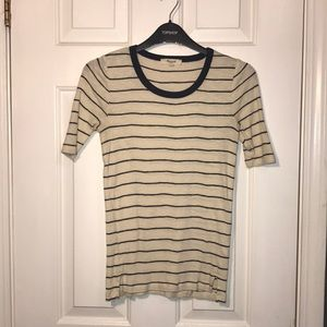 Madewell striped cotton tee. Sz XS.
